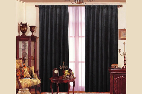 Black Velvet window theater curtain drape