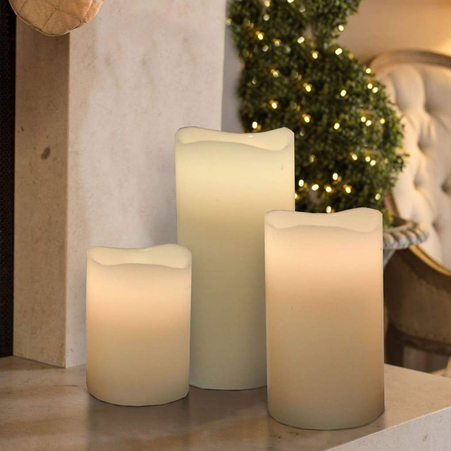 Trendy 3pc Led Candle-12 Changeable Colors