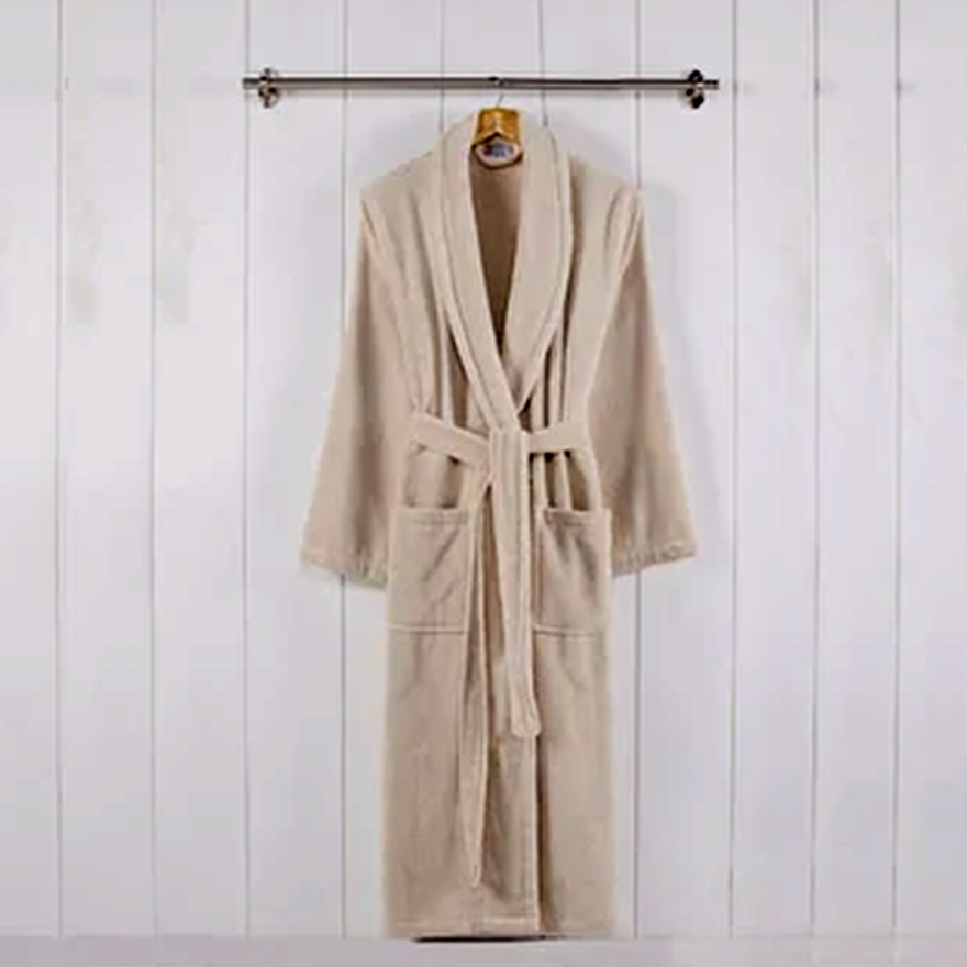 Marseille Fabric Bathrobe with Shawl Collar