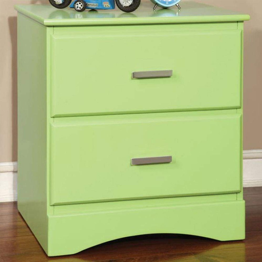 Transitional 2 Drawers Wooden Night Stand
