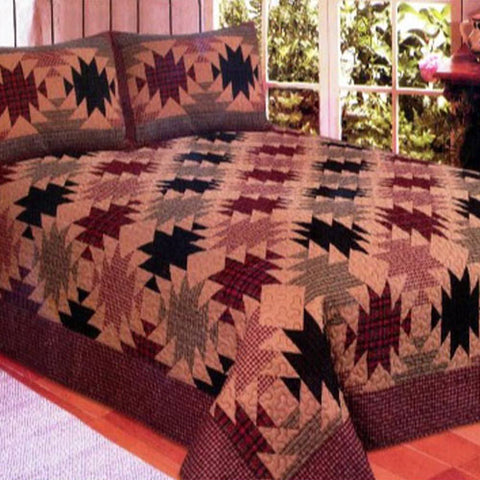 Hawaiian pineapple quilt queen size