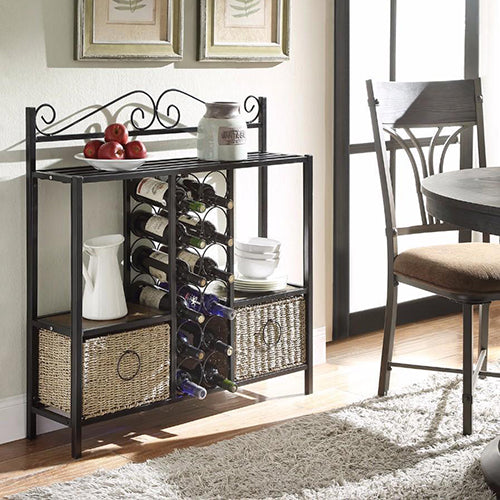 Windsor Storage Towel/ Wine Rack with 2 Baskets