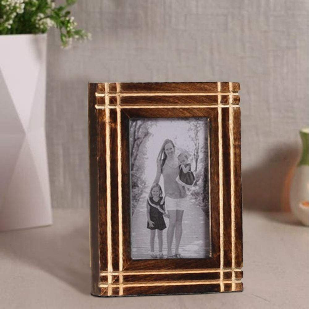 Rustic Horizontal And Vertical Handcrafted Picture Frame