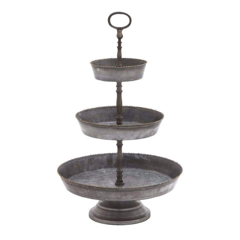 Fantastic 3 Pc Square Cake Stand By Benzara
