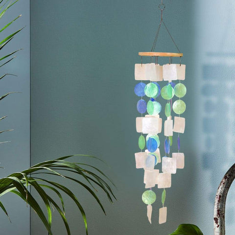 Benzara Gorgeous Metal Fish Wind Chime 2 Assorted