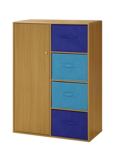 4D Concepts Wooden Boys Chiffarobe with Four Blue Drawers
