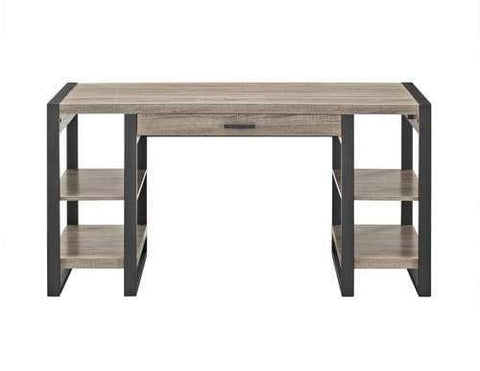 "60"" Urban Blend Storage Desk - Driftwood/Black"