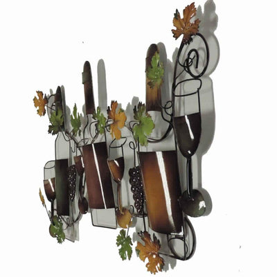 19 Classic Wine Garden Metal Wall Art Decor Sculpture 63546