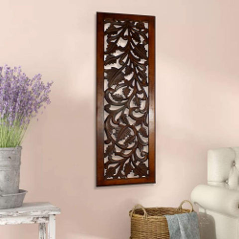Benzara Vintage Style Wood Metal Wall Decor