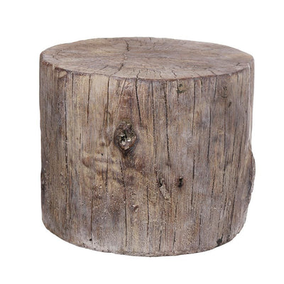 Round Tree Stump Cement Stool Weathered Brown By Casagear Home ABH-1411