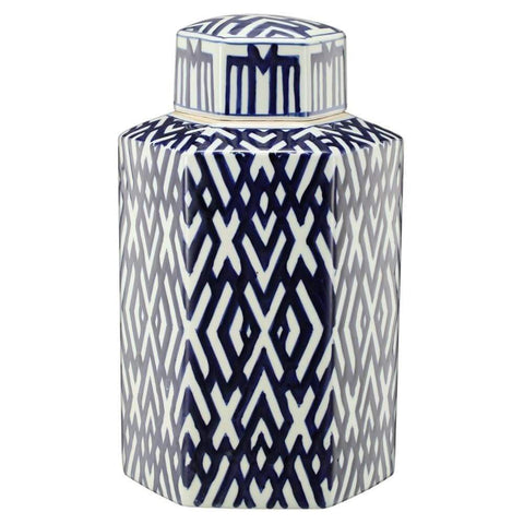 Chic Quinlyn Medium Blue and White Vase