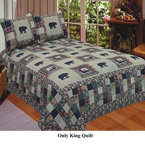 Bliss Ivory Color King Quilt Set, 3-Piece