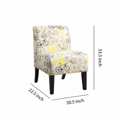 Ollano Accent Chair Pattern Fabric -ACME AMF-59438