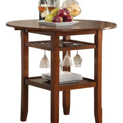 Smart Looking Counter Height Table Cherry AMF-72535
