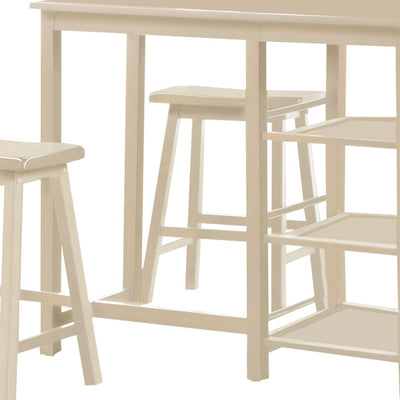 Spacious Counter Height Set White 3 Piece Pack By ACME AMF-73052
