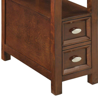 Astonishing Side Table Cherry Brown AMF-80921
