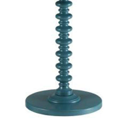Astonishing Side Table With Round Top Teal Blue AMF-82798