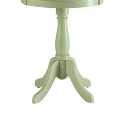 Astonishing Side Table With Round Top Light Green AMF-82810