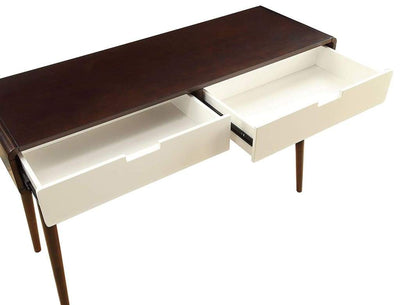 Beautiful Sofa Table With 2 Drawers Espresso & White AMF-82854