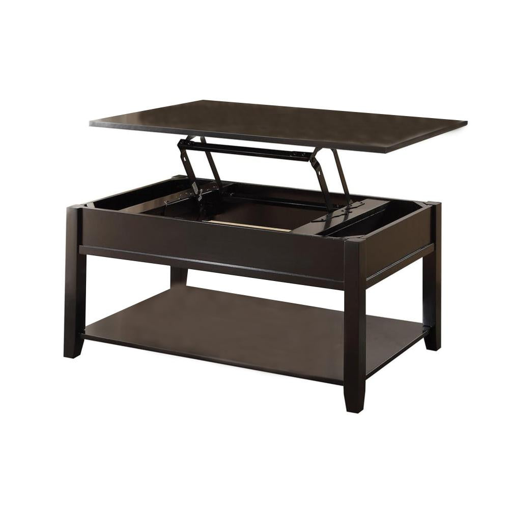Traditional Looking Coffee Table With Lift Top, Black