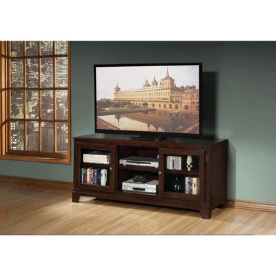 Modish TV Stand, Merlot Brown By ACME
