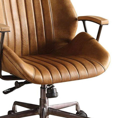 Charleston Executive Office Chair Coffee Top Grain Leather-ACME AMF-92412