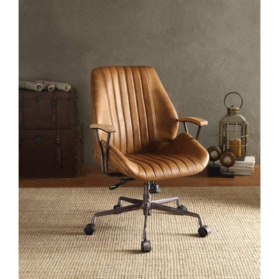 Charleston Executive Office Chair, Coffee Top Grain Leather-ACME