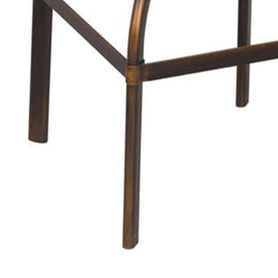 Adjustable Stool with Swivel Antique Copper By ACME AMF-96638