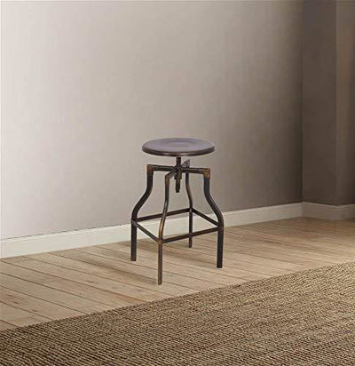 Adjustable Stool with Swivel, Antique Copper By ACME