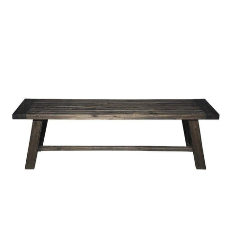Transitional Style Bench In Acacia Wood Gray