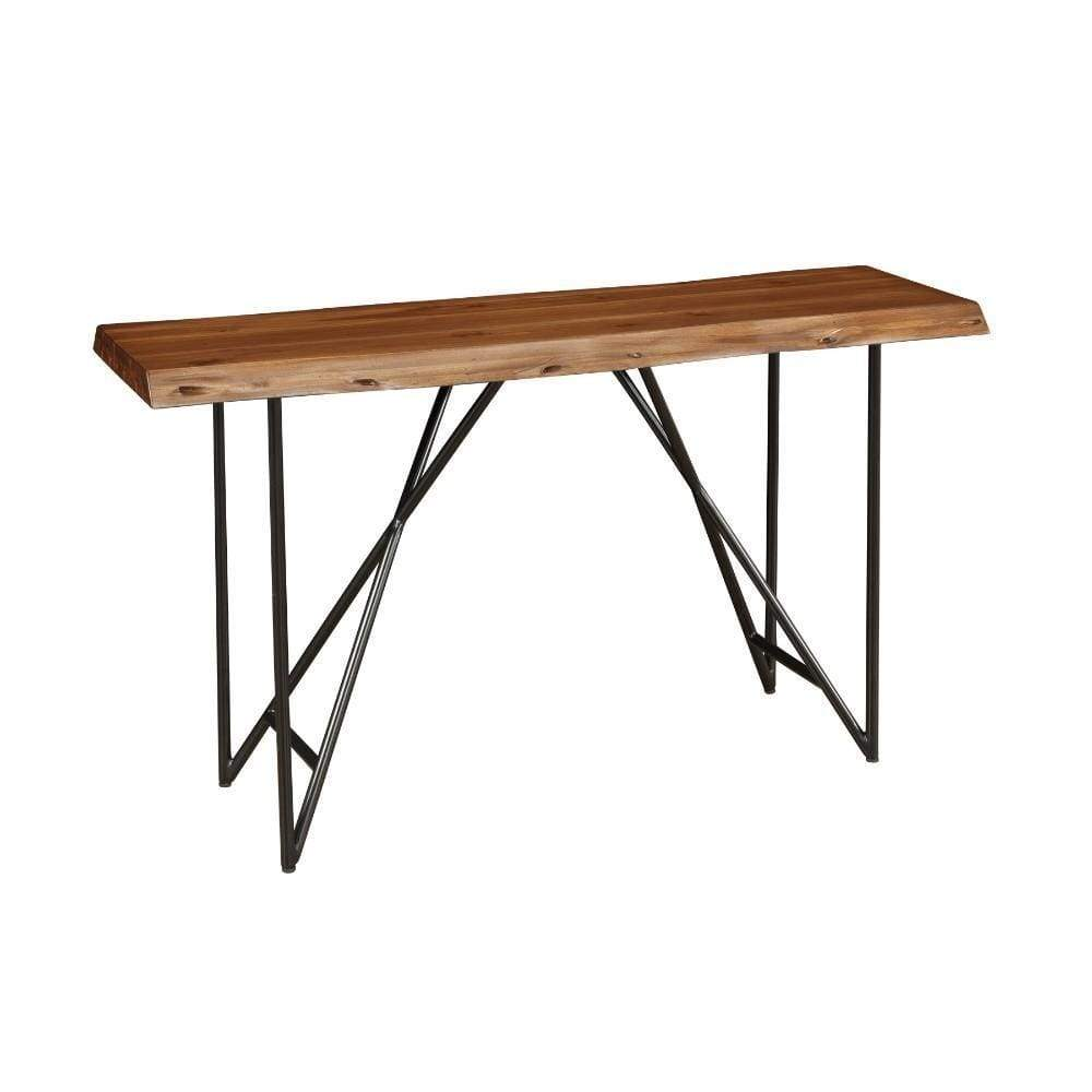 Space Efficient Sofa/Console Table In Acacia Wood Brown