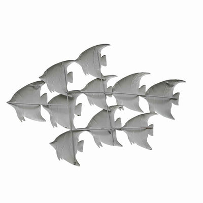 Three Dimensional Hanging Metal Fish Wall Art Decor Multicolor By Casagear Home BM05387