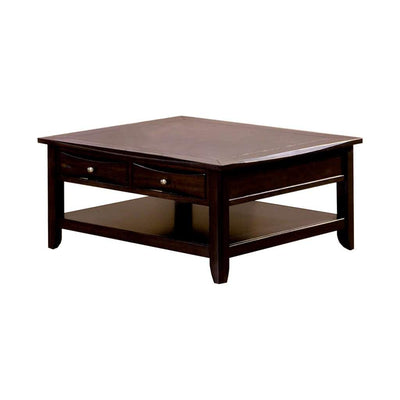 Baldwin Espresso Square Cocktail Table By Casagear Home