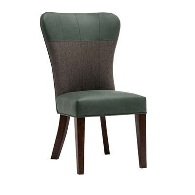 Two Tone Fabric Upholstered Dining Chair Set of 2 Green and Gray - BM183465 By Casagear Home BM183465