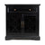 "Craftsman Series 32"" Wooden Accent Cabinet with Fretwork Glass Front, Black"