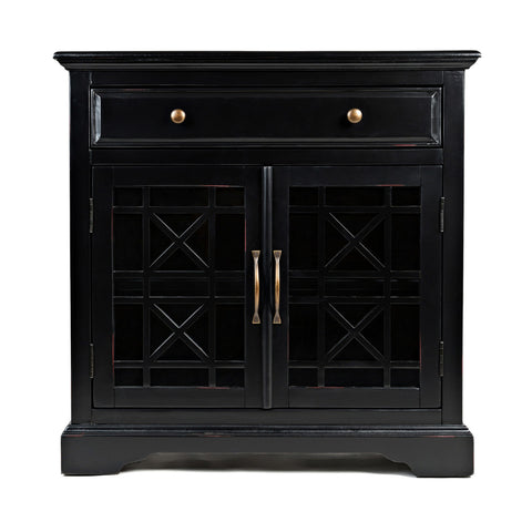 Cabrini TV Stand 2.2 in Black Gloss and Black Matte