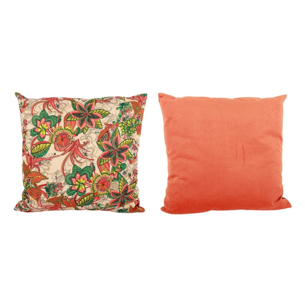 22 X 22 Inch Pillow with Intricate Floral Embroidery, Set of 2, Multicolor - BM203565 By Casagear Home