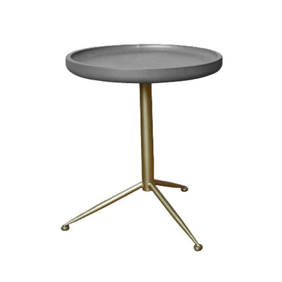 Round Wooden Side Table with Tripod Base Small Gold and Gray - BM204737 By Casagear Home BM204737