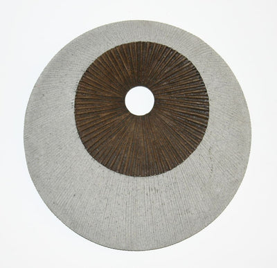 Round and Ribbed Double Layer Sandstone Wall Art, Medium, Brown and Gray - BM205828 By Casagear Home