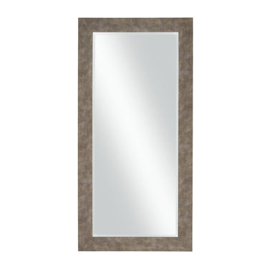 Stylish Rectangular Polystyrene Framed Leaner Mirror Distressed Iron - BM205947 By Casagear Home BM205947