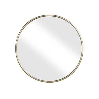 Contemporary Style Round Metal Framed Wall Mirror Small Gold and Silver - BM205955 By Casagear Home BM205955