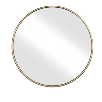 Contemporary Style Round Metal Framed Wall Mirror Large Gold and Silver - BM205956 By Casagear Home BM205956
