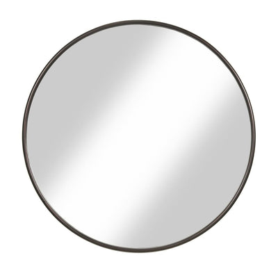 Contemporary Round Metal Framed Wall Mirror Large Bronze and Silver - BM205990 By Casagear Home BM205990