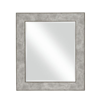 Polystyrene Wall Mirror with Hammered Ripple Design Distressed Silver - BM205993 By Casagear Home BM205993