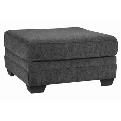 "36"" Square Dual Layer Oversized Accent Ottoman, Gray By Casagear Home"