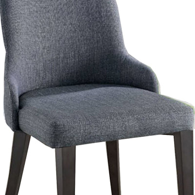 Upholstered Wooden Side Chair Set of 2 Gray and Brown By Casagear Home BM206288