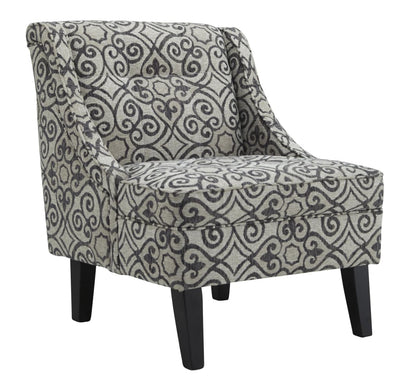 Upholstered Suzani Print Wingback Accent Chair, Gray By Casagear Home