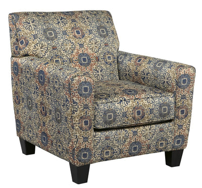Upholstered Rug Motif Pattern Accent Chair, Multicolor By Casagear Home