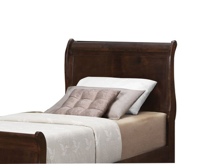 Wooden Twin Size Headboard with Demi Wingback Espresso Brown By Casagear Home BM206507