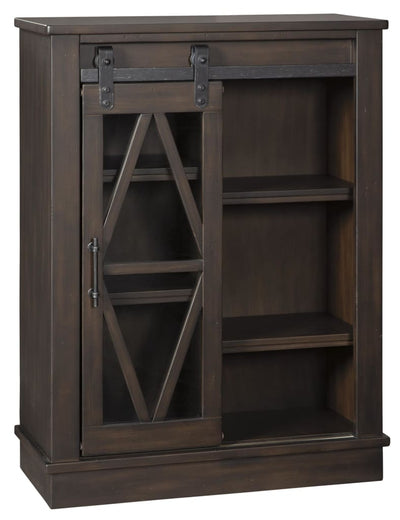 "42"" Accent Cabinet with Barn Sliding Door, Brown By Casagear Home"